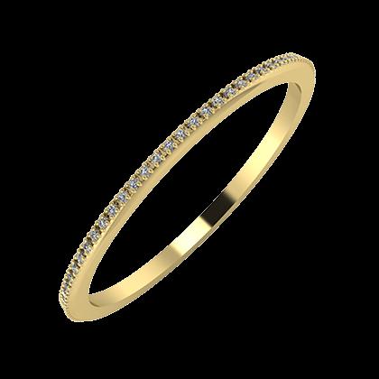 Alóma 1mm 14 karátos sárga arany karikagyűrű