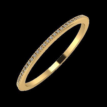 Alóma 1mm 18 karátos sárga arany karikagyűrű