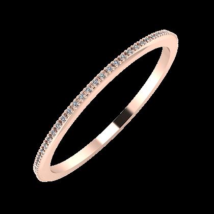 Alóma 1mm 18 karátos rosé arany karikagyűrű