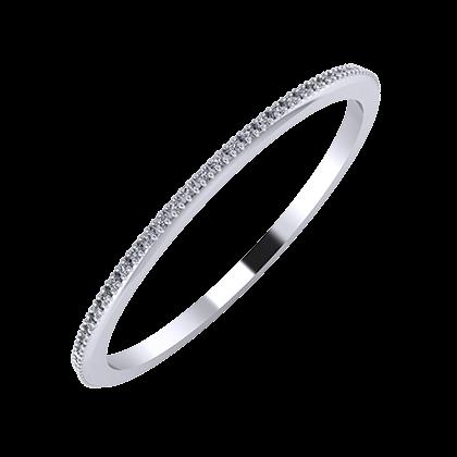 Alóma 1mm platina karikagyűrű
