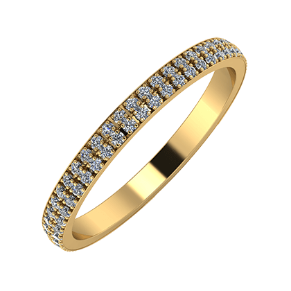 Alóma 2mm 22 karátos sárga arany karikagyűrű