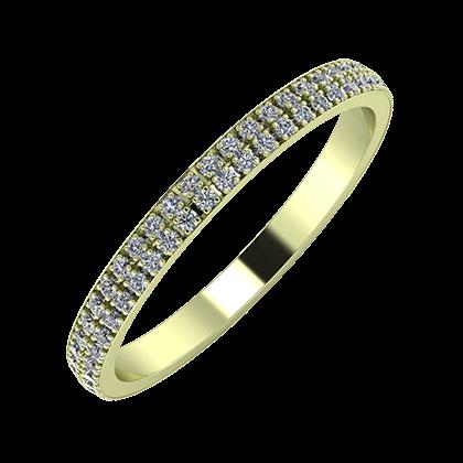 Alóma 2mm 14 karátos zöld arany karikagyűrű