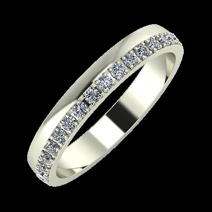 Ama 3mm 18 karátos fehér arany karikagyűrű