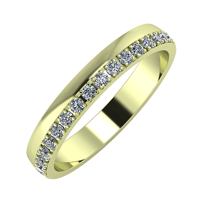 Ama 3mm 14 karátos zöld arany karikagyűrű