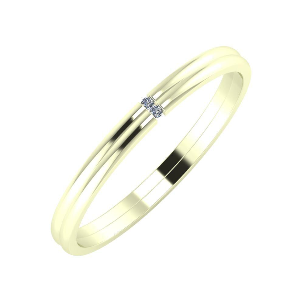 Adalind - Adalind 2mm 22 karátos fehér arany karikagyűrű