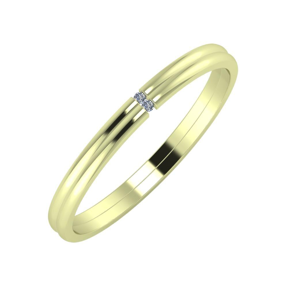 Adalind - Adalind 2mm 14 karátos zöld arany karikagyűrű