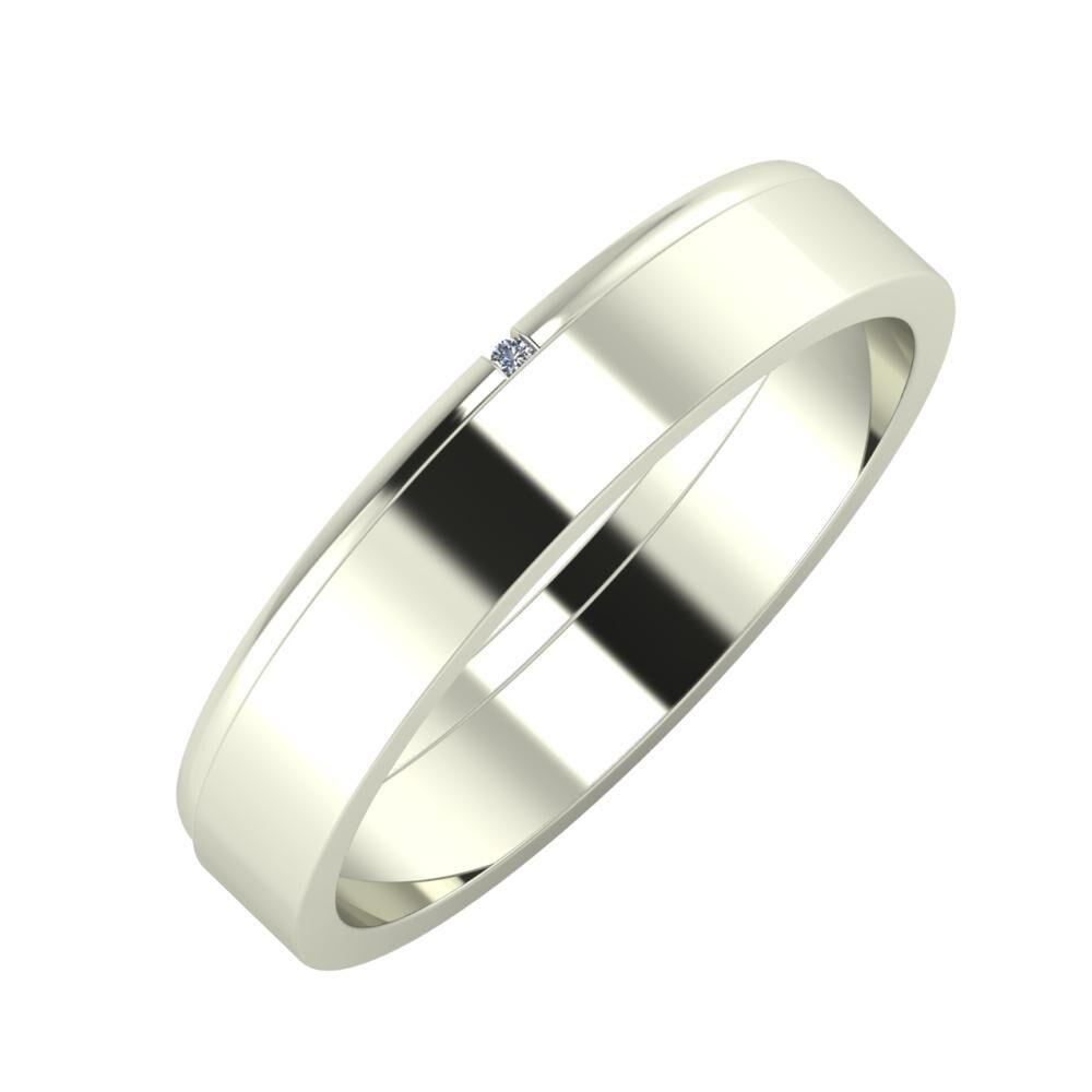 Adalind - Adela 4mm 14 karátos fehér arany karikagyűrű