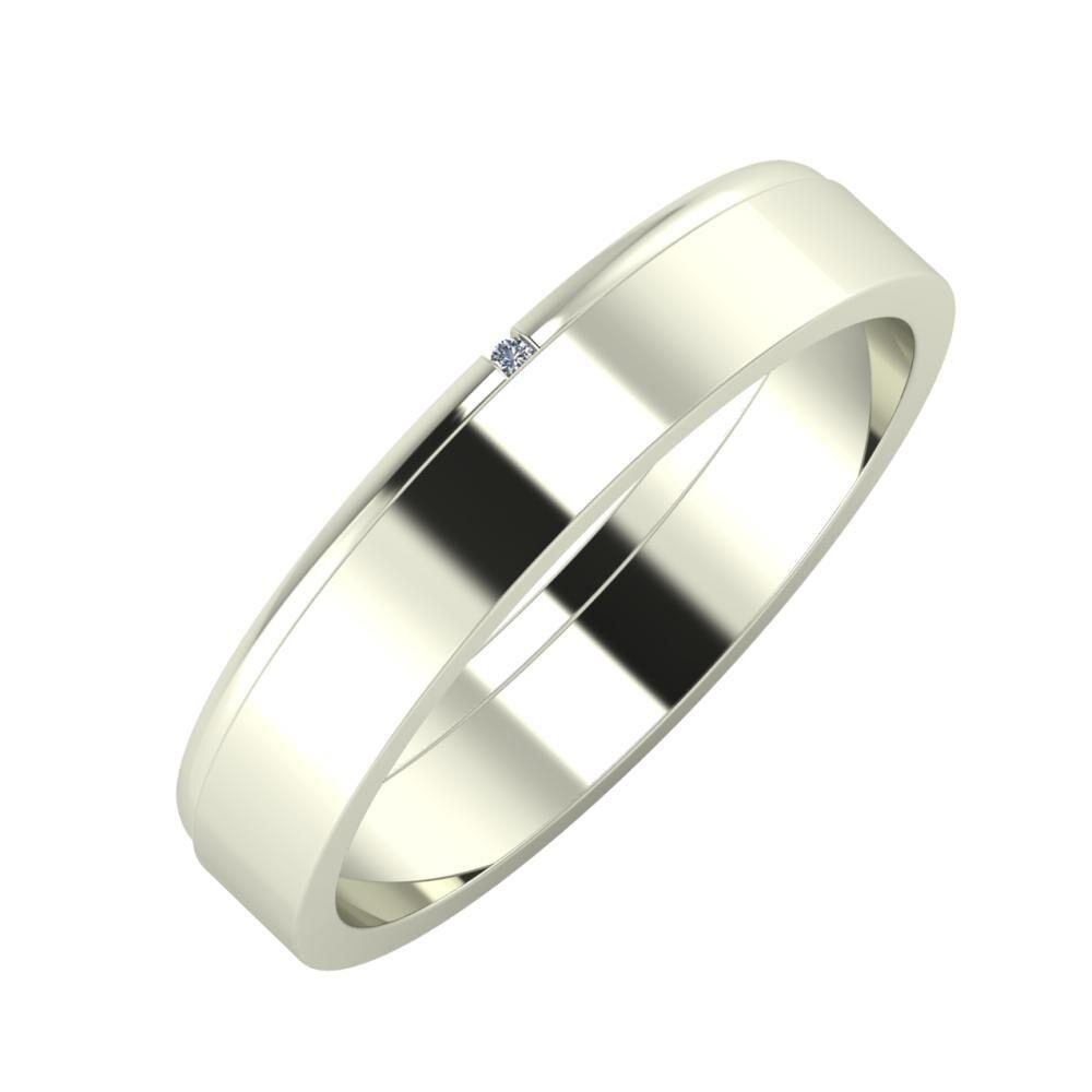 Adalind - Adela 4mm 18 karátos fehér arany karikagyűrű