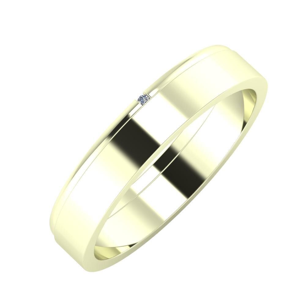 Adalind - Adela 4mm 22 karátos fehér arany karikagyűrű