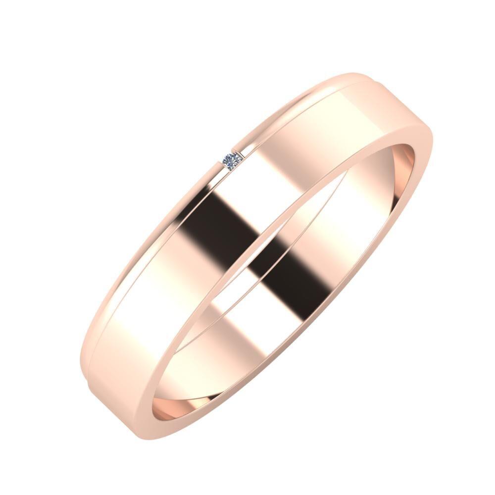 Adalind - Adela 4mm 14 karátos rosé arany karikagyűrű