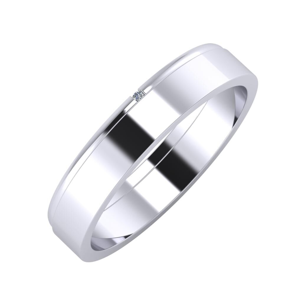 Adalind - Adela 4mm platina karikagyűrű
