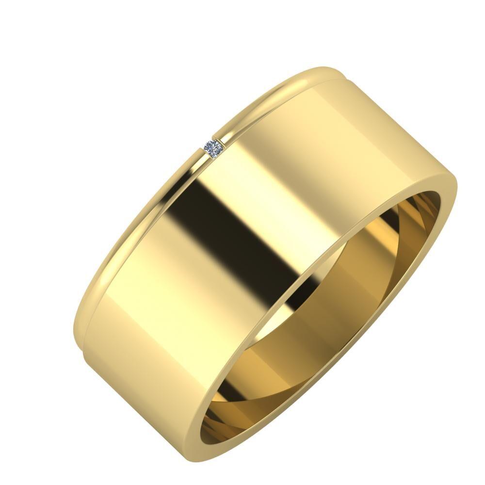 Adalind - Adela 8mm 14 karátos sárga arany karikagyűrű