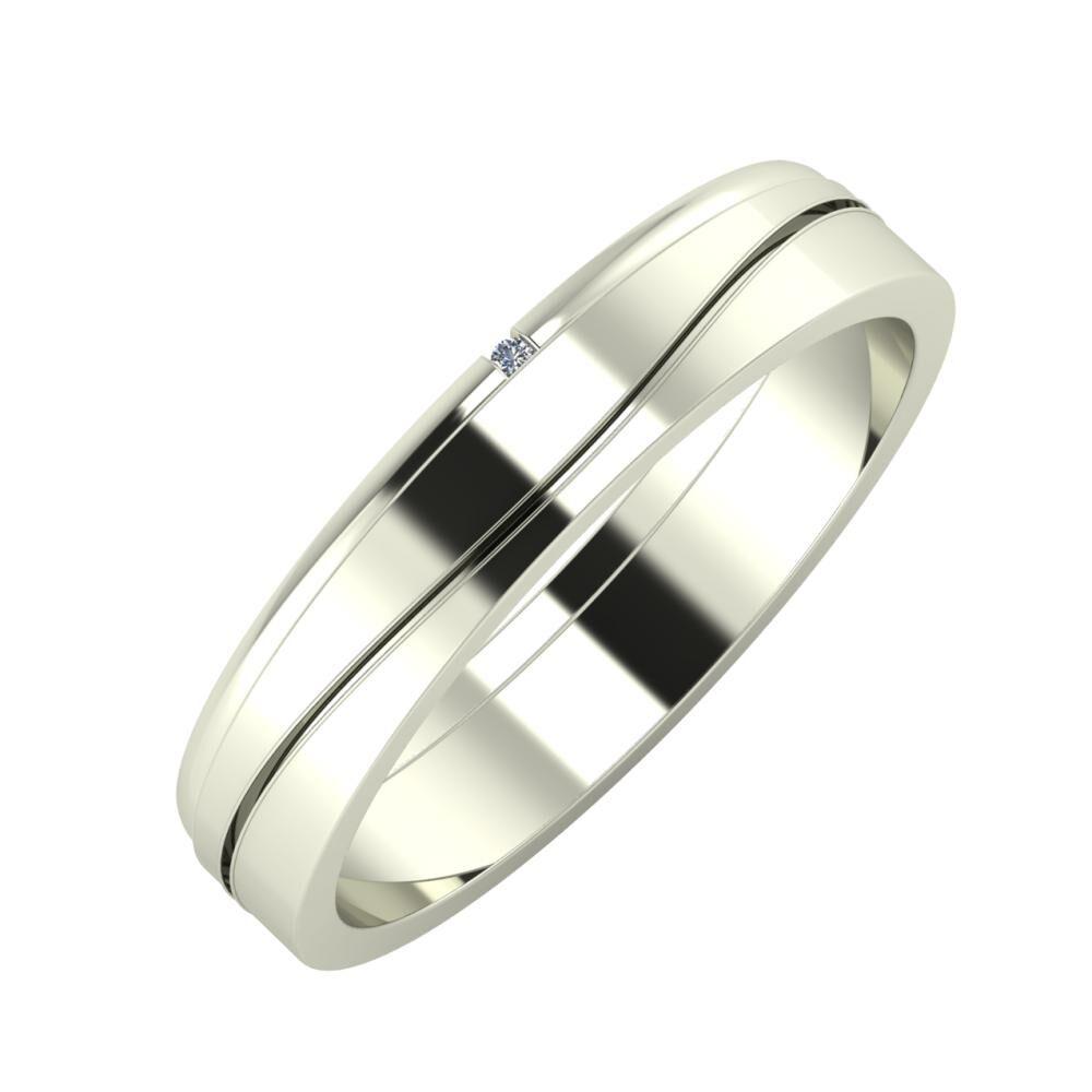 Adalind - Adelinda 4mm 14 karátos fehér arany karikagyűrű