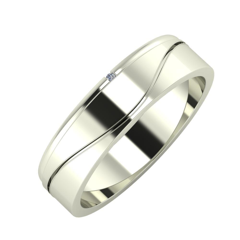 Adalind - Adelinda 5mm 14 karátos fehér arany karikagyűrű