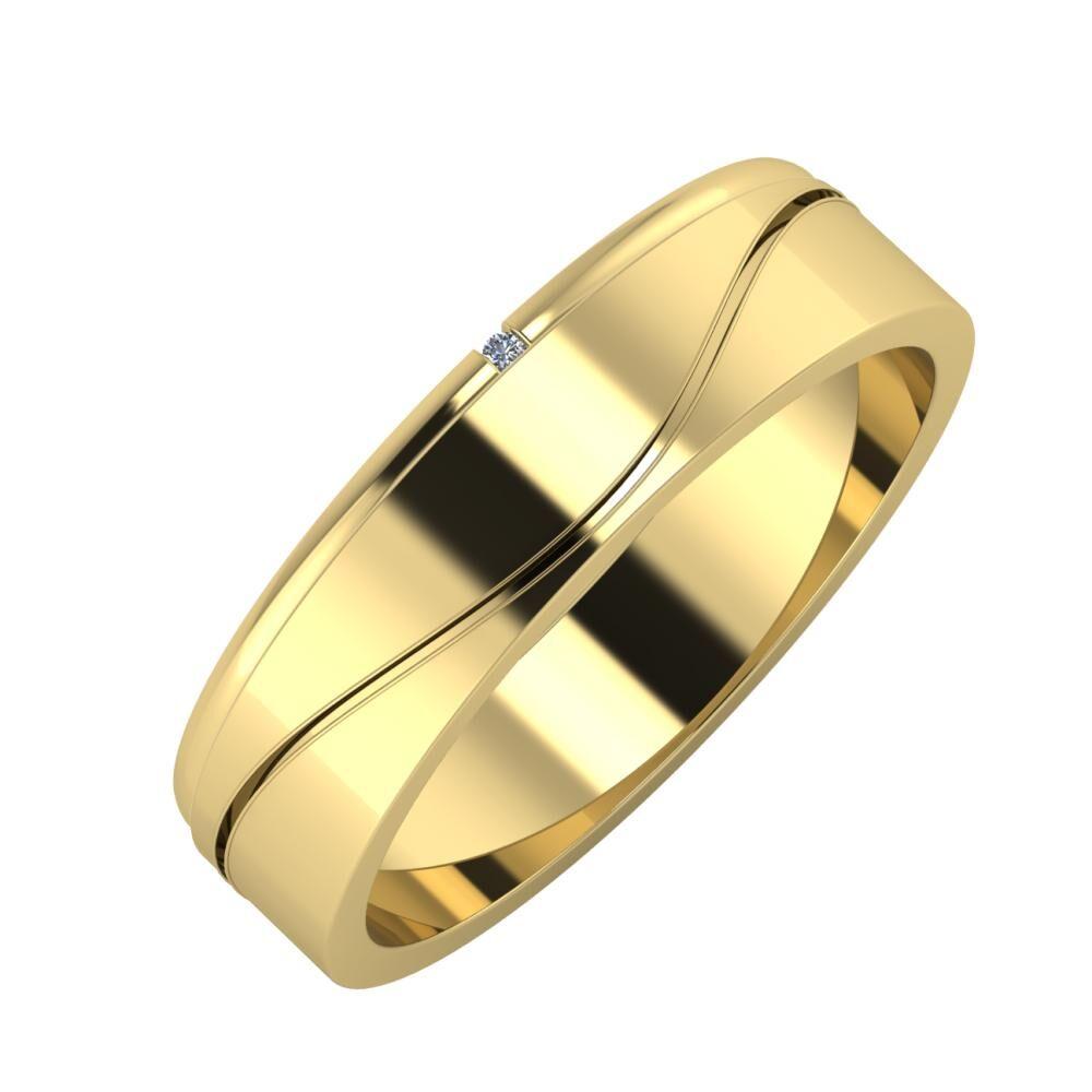 Adalind - Adelinda 5mm 14 karátos sárga arany karikagyűrű