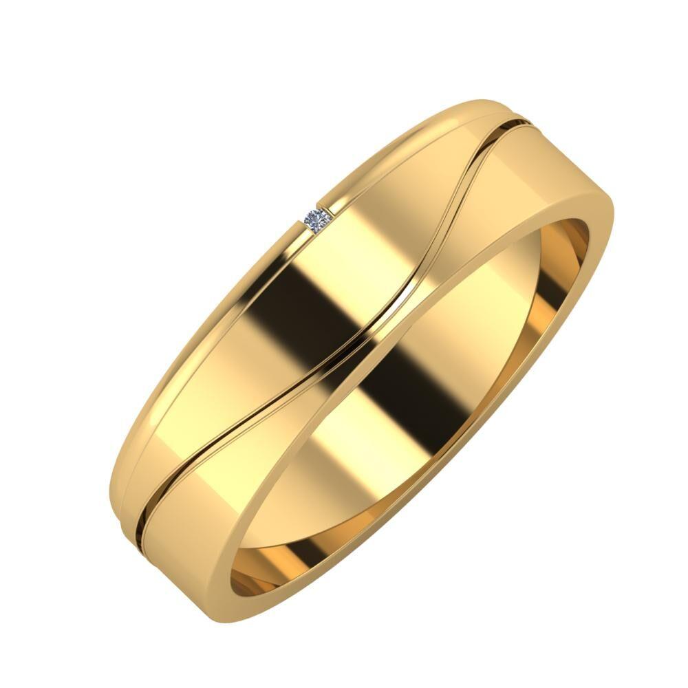 Adalind - Adelinda 5mm 18 karátos sárga arany karikagyűrű