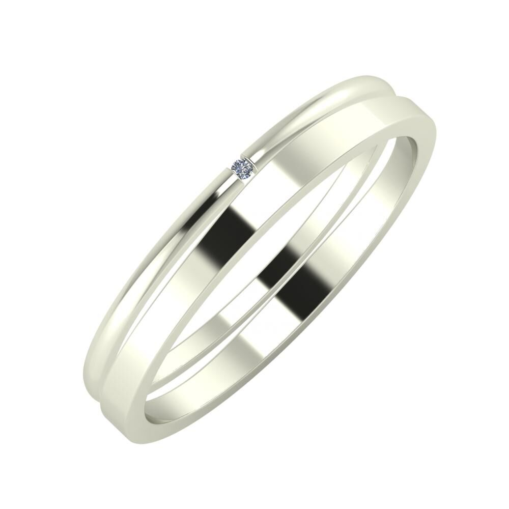 Adalind - Adria 3mm 14 karátos fehér arany karikagyűrű