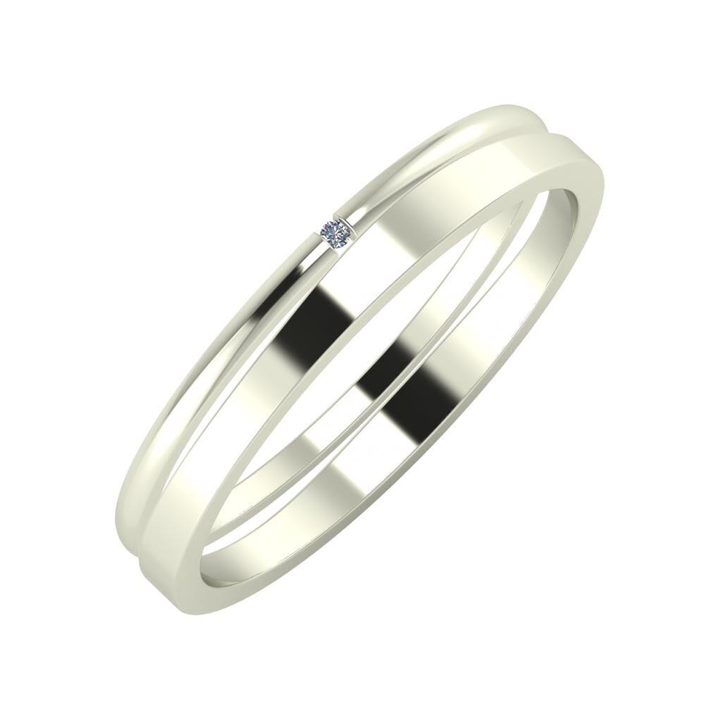 Adalind - Adria 3mm 18 karátos fehér arany karikagyűrű