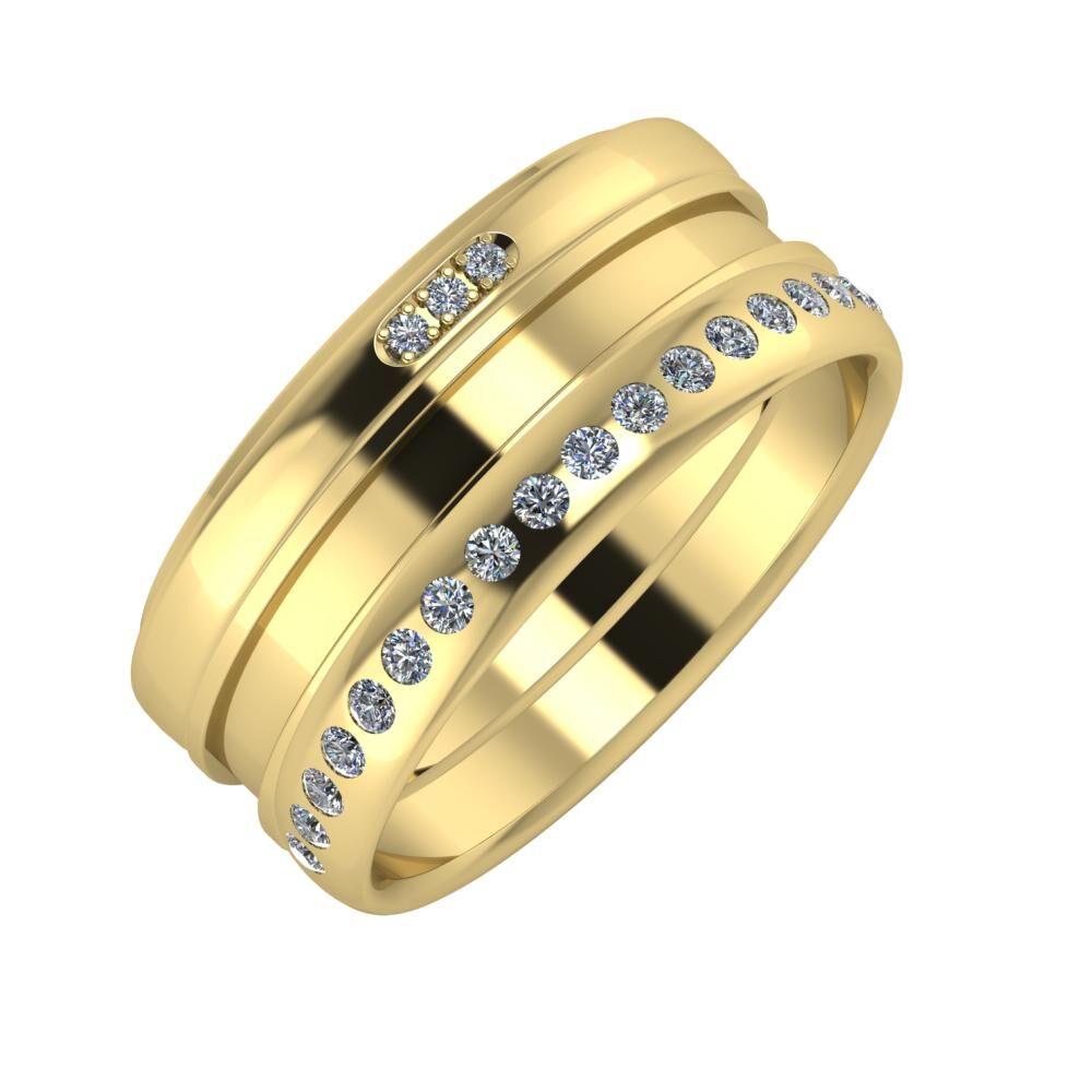 Aleszja - Ajnácska - Aldea 9mm 14 karátos sárga arany karikagyűrű