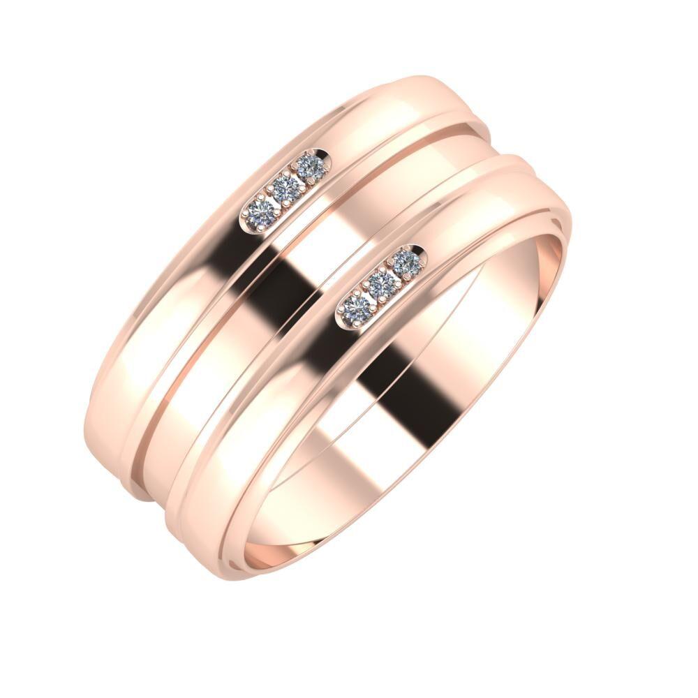 Aleszja - Ajnácska - Aleszja 9mm 14 karátos rosé arany karikagyűrű