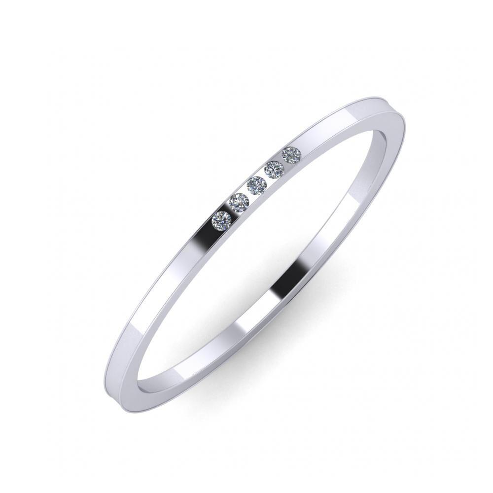 Aleszja - Ajra - Adelaida 5mm platina karikagyűrű