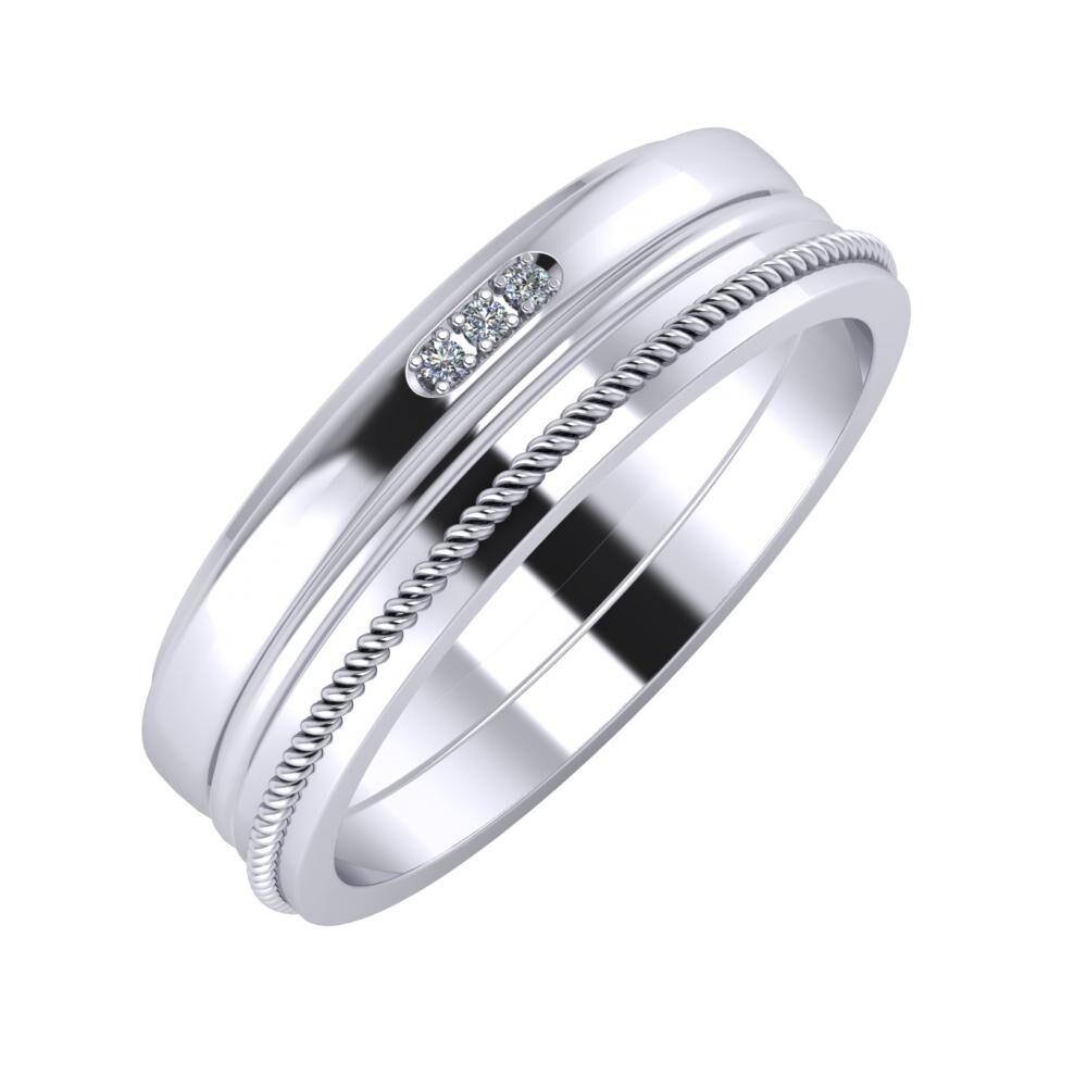 Aleszja - Ajra - Afrodité 6mm platina karikagyűrű