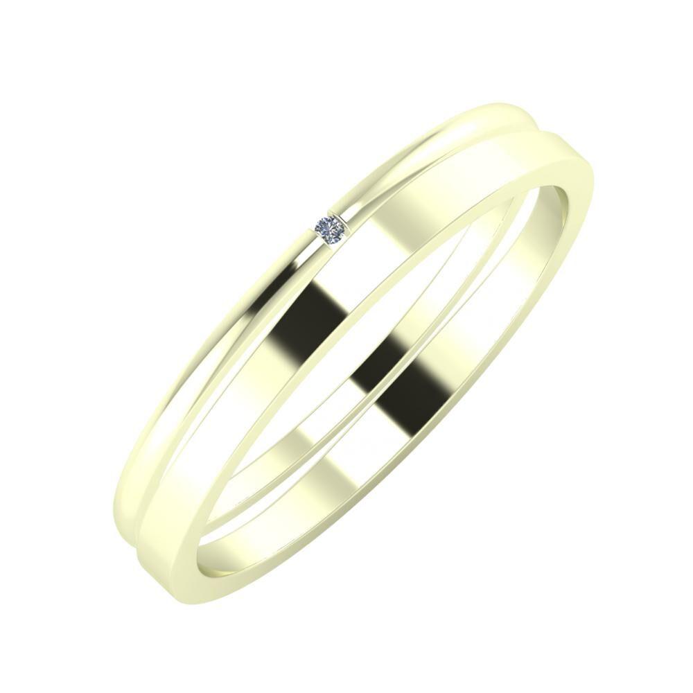 Adalind - Adria 3mm 22 karátos fehér arany karikagyűrű