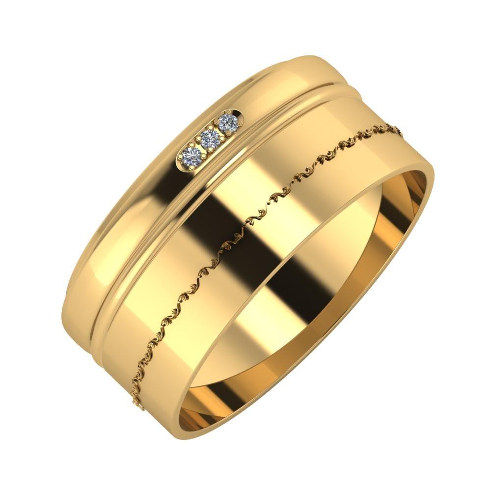 Aleszja - Ajra - Agnabella 9mm 18 karátos sárga arany karikagyűrű