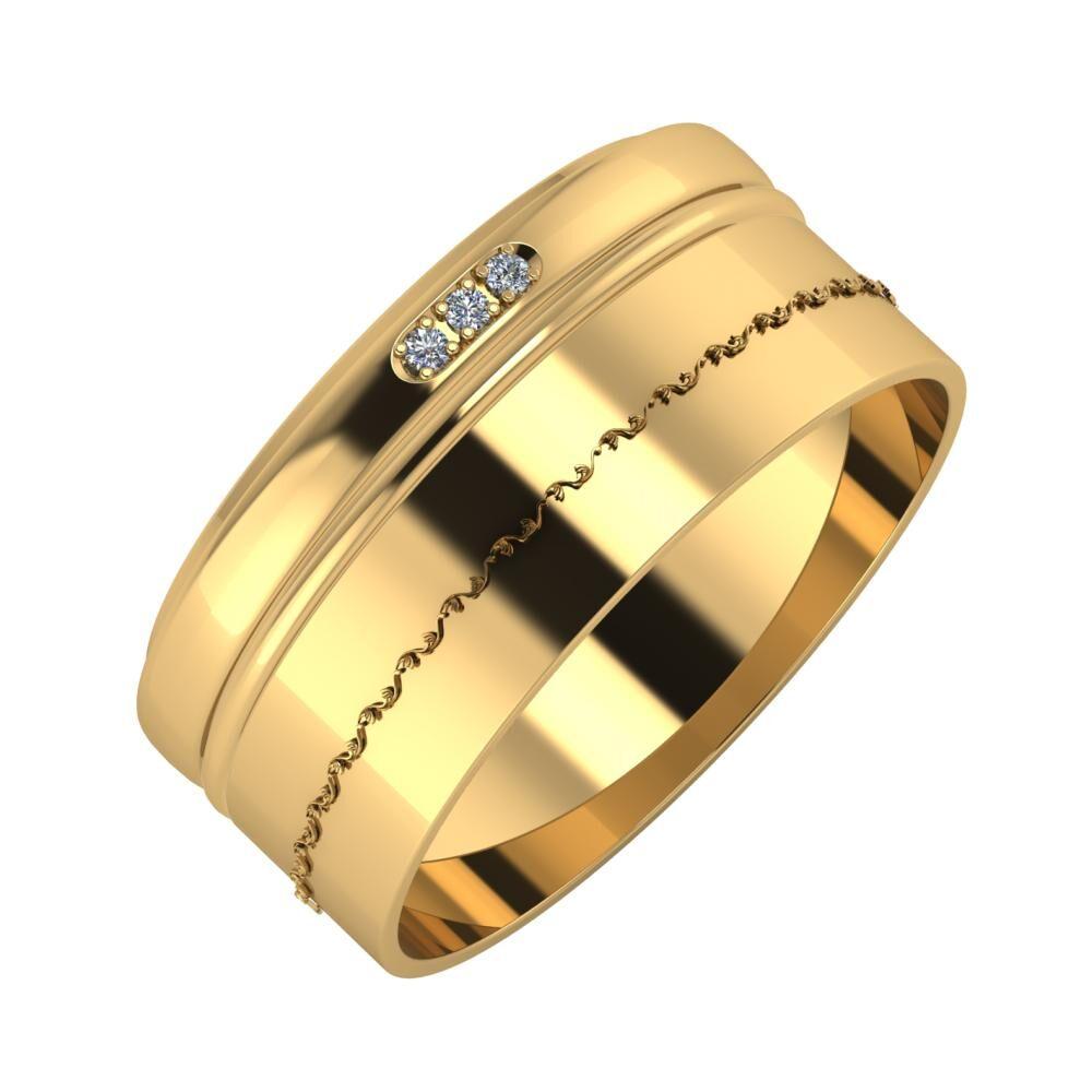 Aleszja - Ajra - Agnabella 9mm 22 karátos sárga arany karikagyűrű