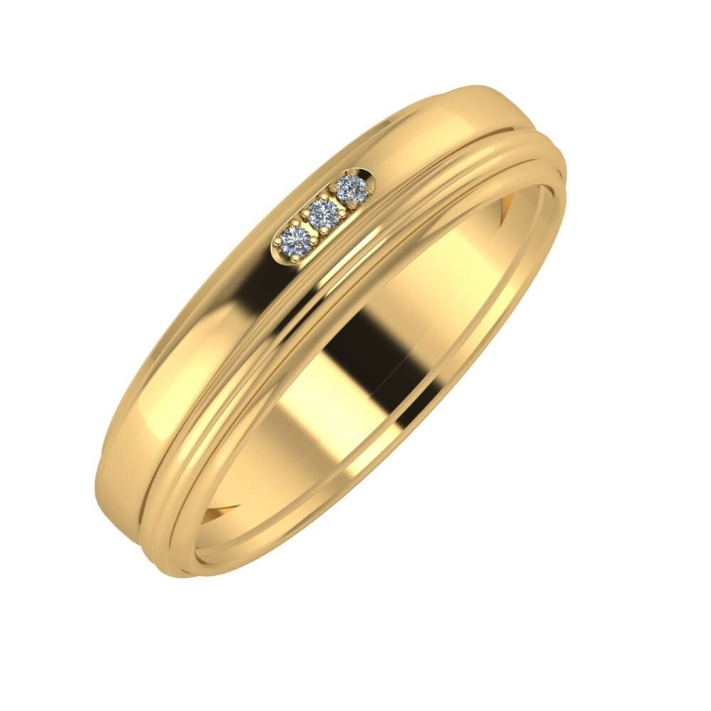 Aleszja - Ajra - Agrippína 5mm 22 karátos sárga arany karikagyűrű