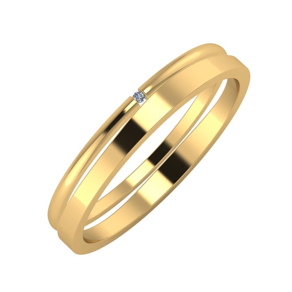 Adalind - Adria 3mm 22 karátos sárga arany karikagyűrű