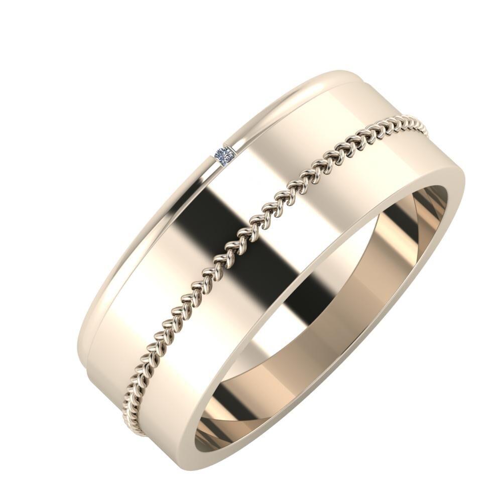 Adalind - Áfonya 7mm 22 karátos rosé arany karikagyűrű