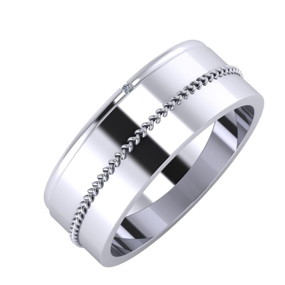 Adalind - Áfonya 7mm platina karikagyűrű