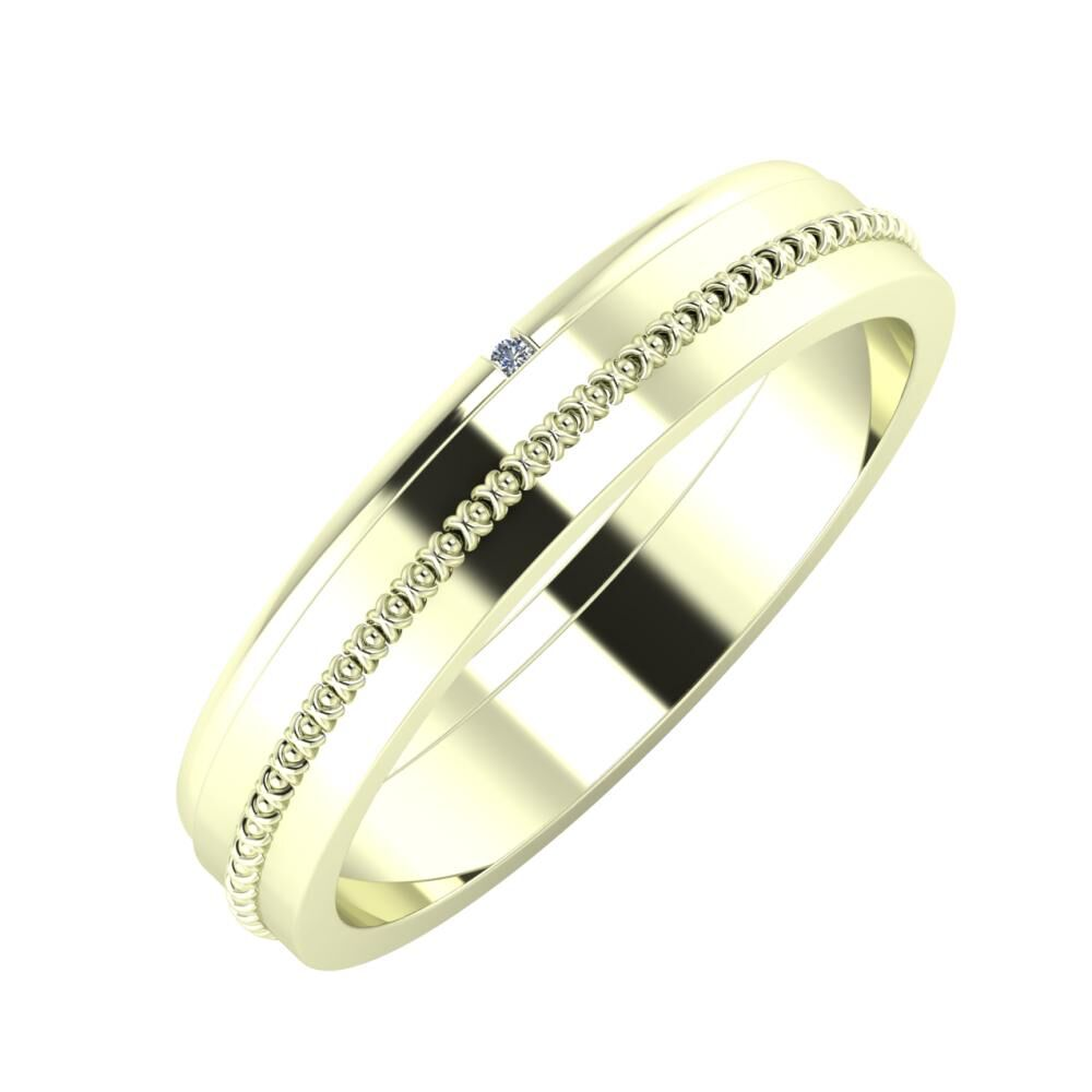 Adalind - Afrodita 4mm 22 karátos fehér arany karikagyűrű