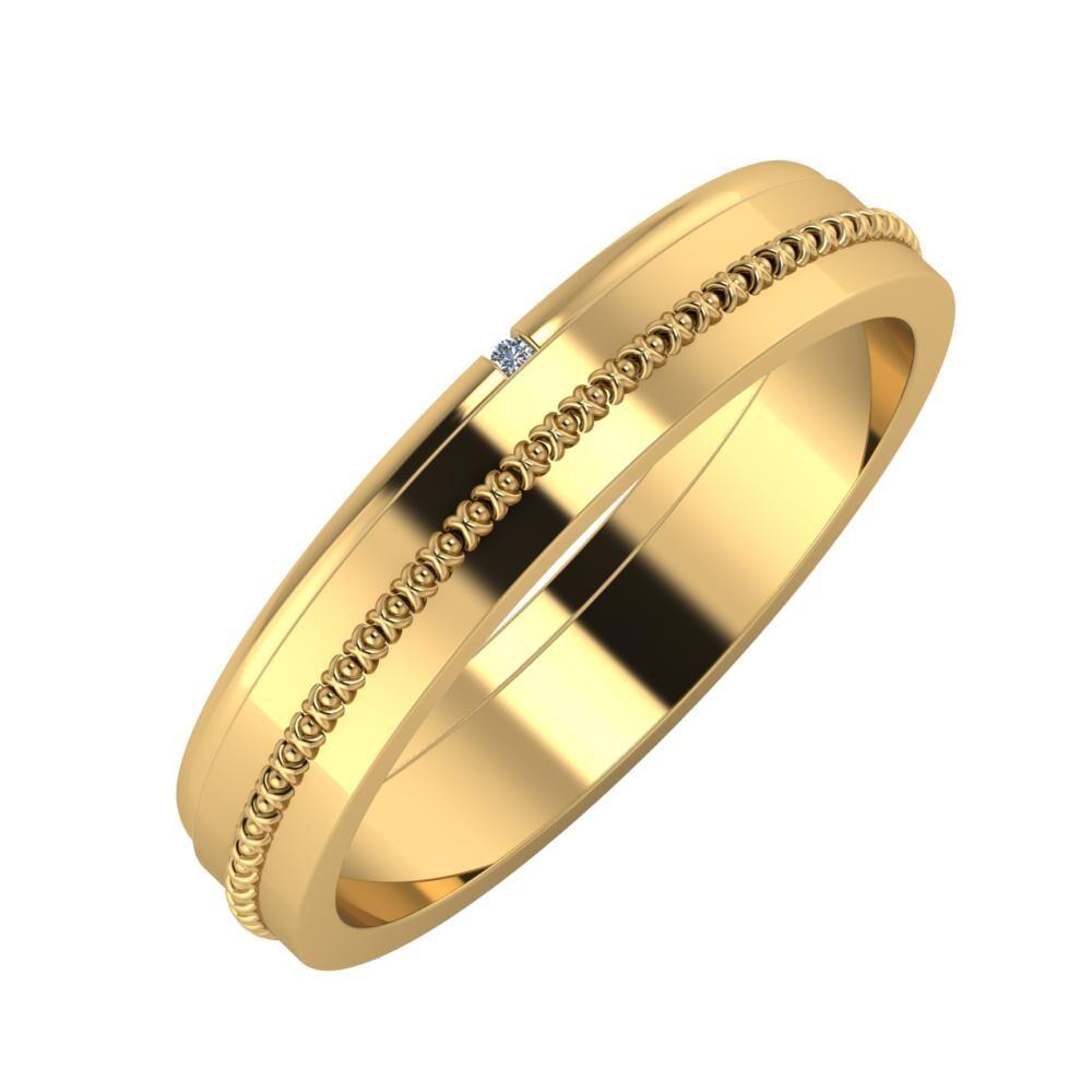 Adalind - Afrodita 4mm 22 karátos sárga arany karikagyűrű
