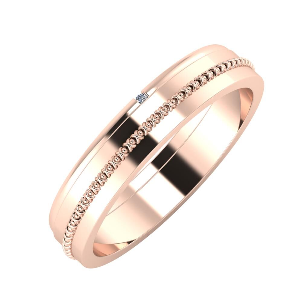 Adalind - Afrodita 4mm 14 karátos rosé arany karikagyűrű
