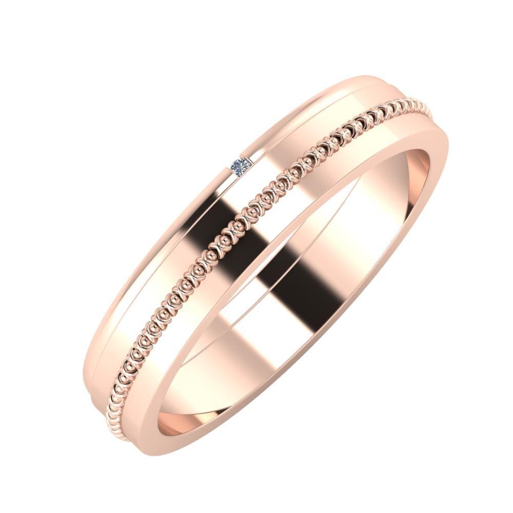 Adalind - Afrodita 4mm 18 karátos rosé arany karikagyűrű