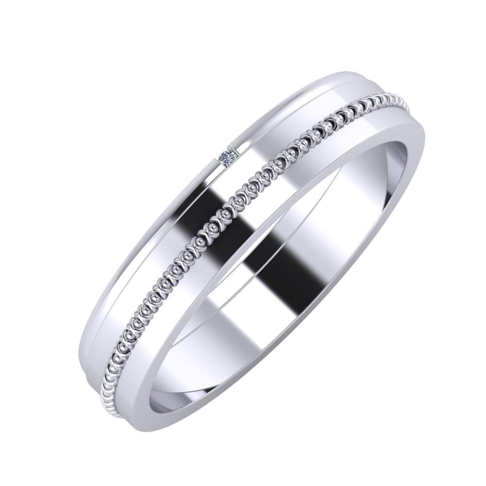 Adalind - Afrodita 4mm platina karikagyűrű