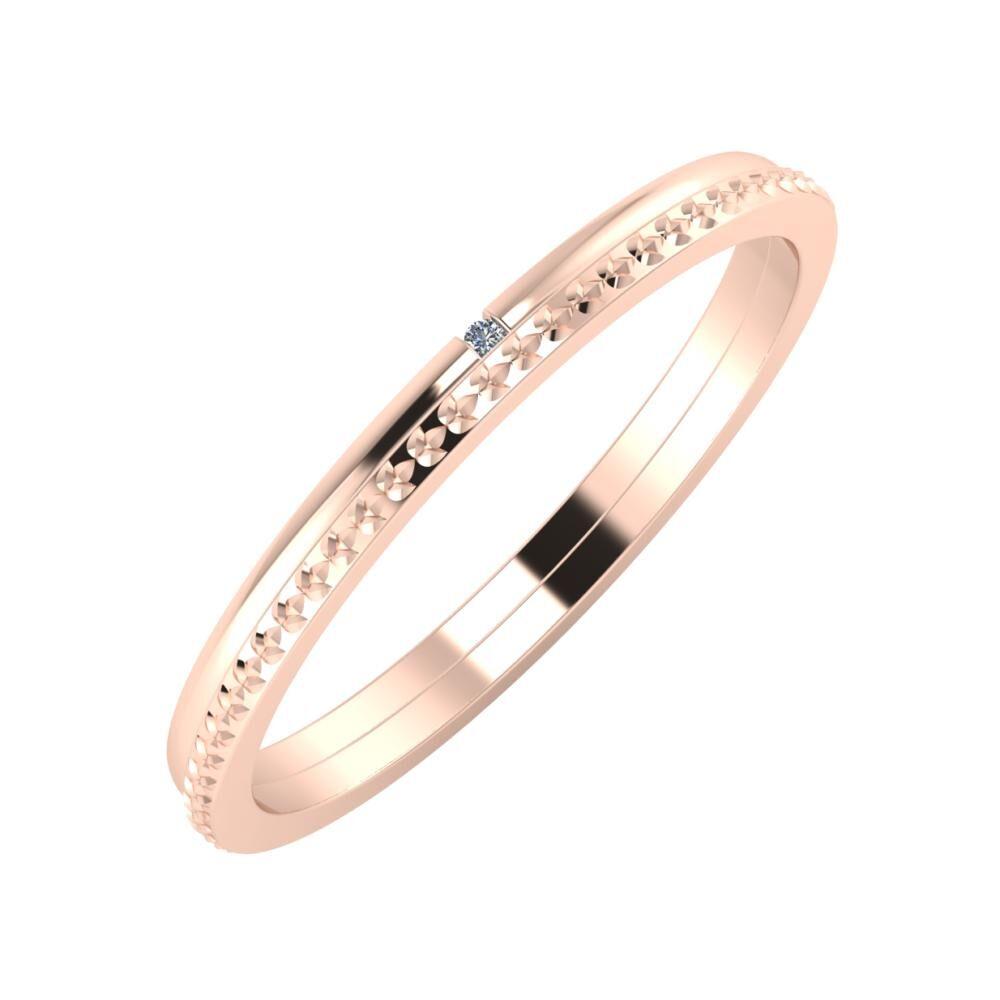 Adalind - Ági 2mm 18 karátos rosé arany karikagyűrű