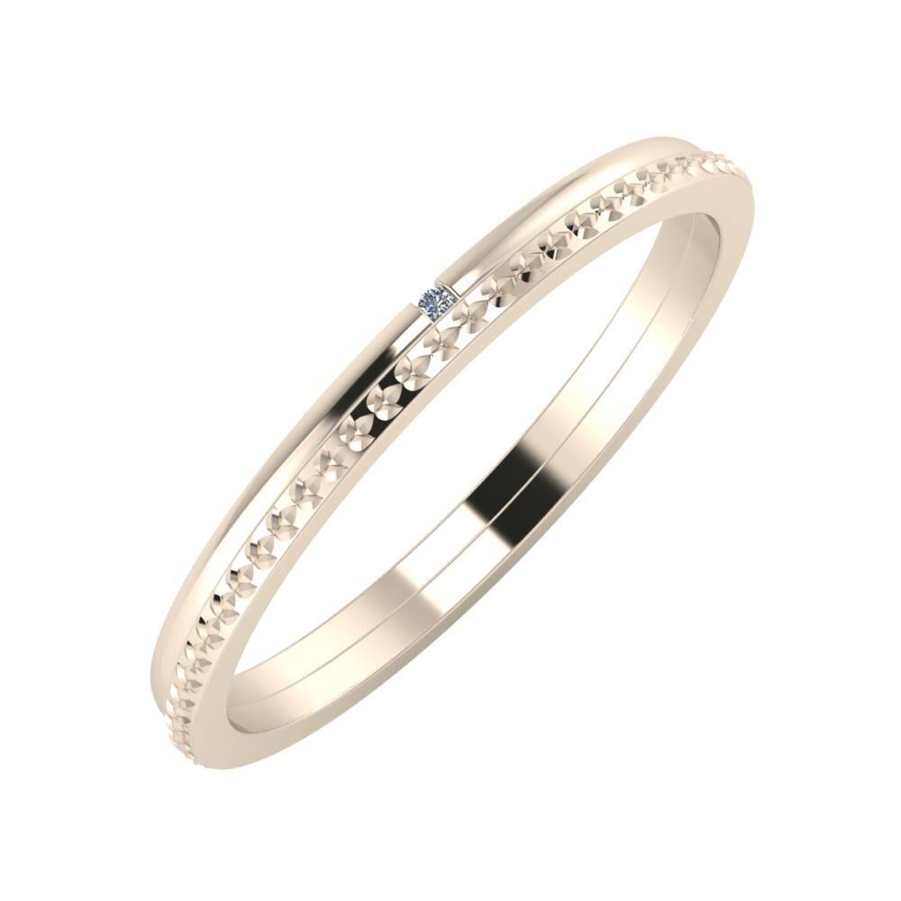 Adalind - Ági 2mm 22 karátos rosé arany karikagyűrű