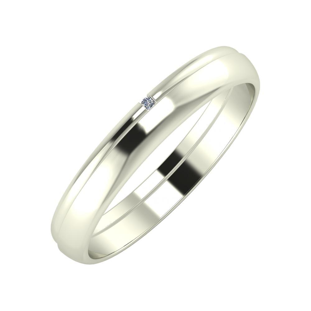 Adalind - Ágosta 3mm 18 karátos fehér arany karikagyűrű