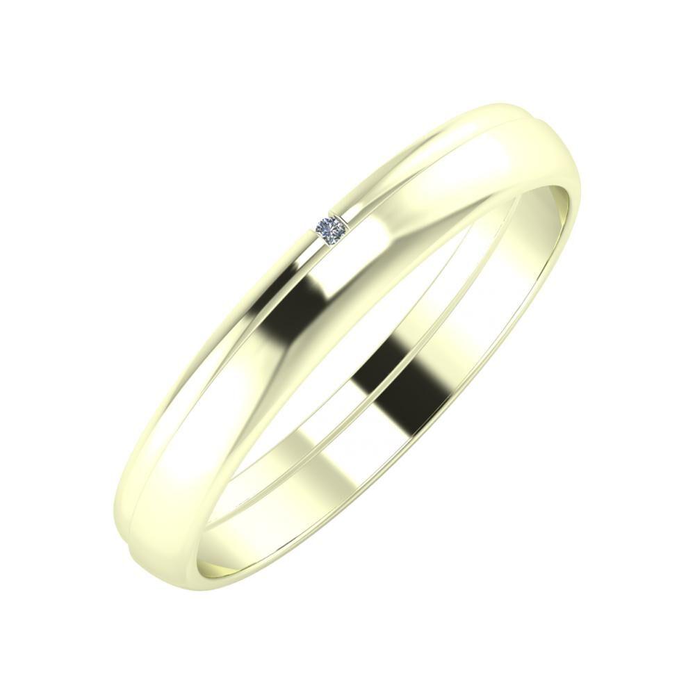 Adalind - Ágosta 3mm 22 karátos fehér arany karikagyűrű