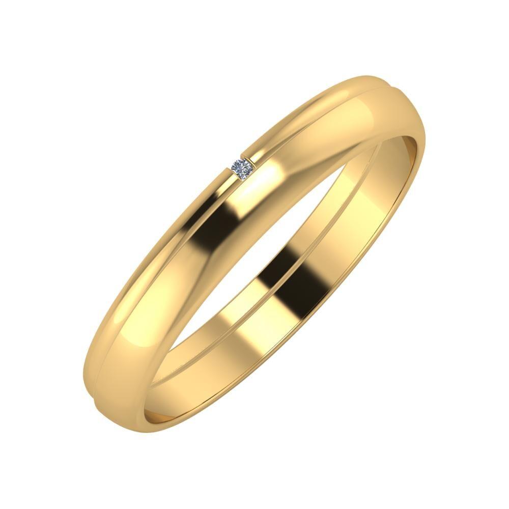 Adalind - Ágosta 3mm 18 karátos sárga arany karikagyűrű