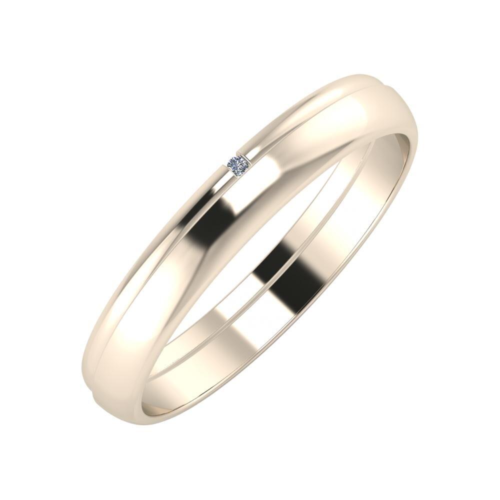 Adalind - Ágosta 3mm 22 karátos rosé arany karikagyűrű