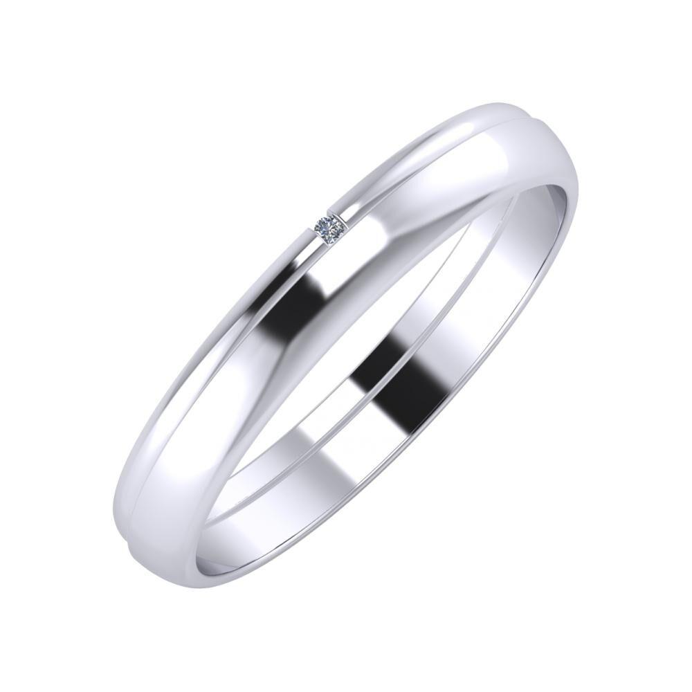 Adalind - Ágosta 3mm platina karikagyűrű