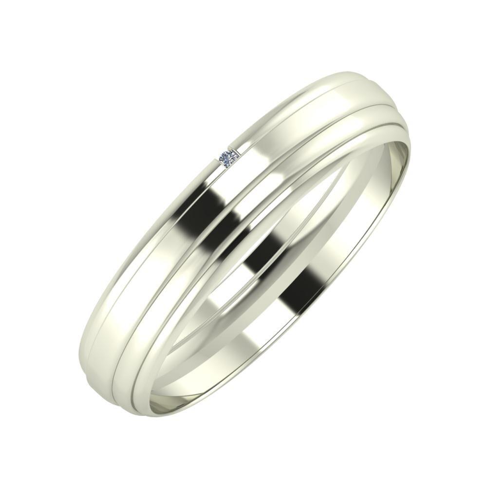 Adalind - Aina 4mm 18 karátos fehér arany karikagyűrű