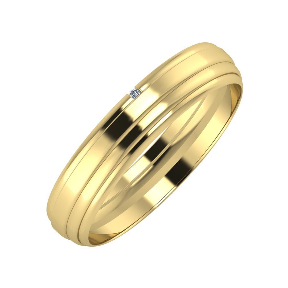 Adalind - Aina 4mm 14 karátos sárga arany karikagyűrű