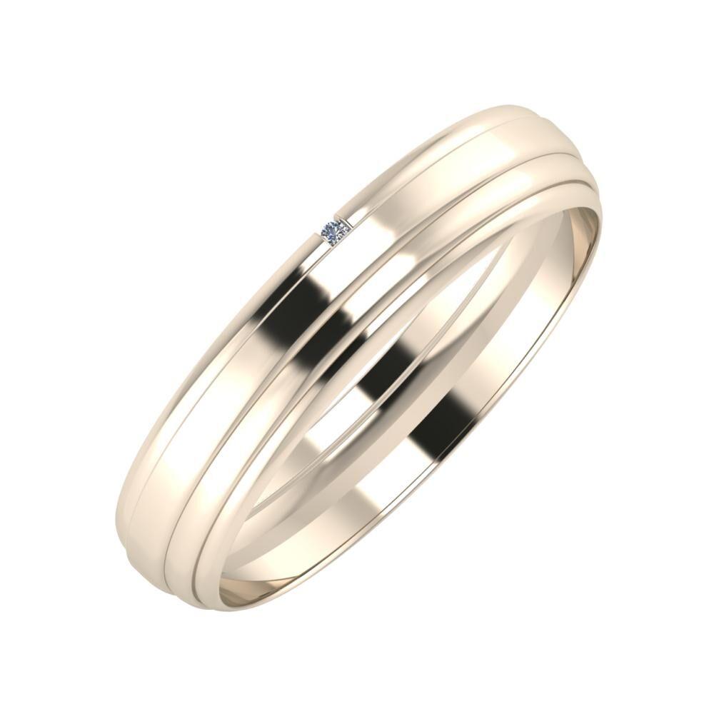 Adalind - Aina 4mm 22 karátos rosé arany karikagyűrű