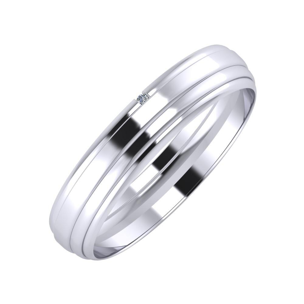 Adalind - Aina 4mm platina karikagyűrű