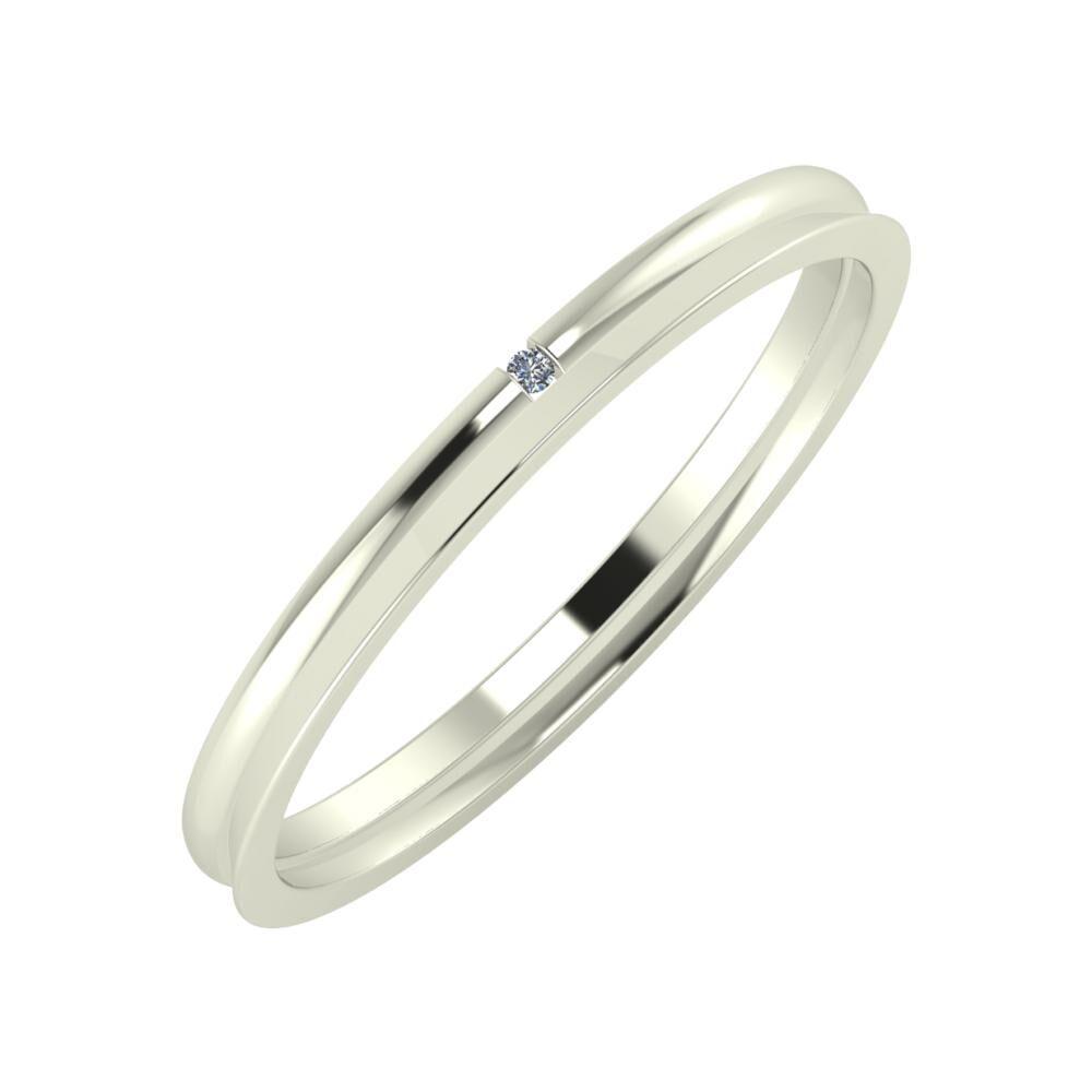 Adalind - Aisa 2mm 14 karátos fehér arany karikagyűrű